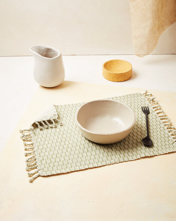 Minna Panalito Placemat - Sage Kitchen Textiles Minna
