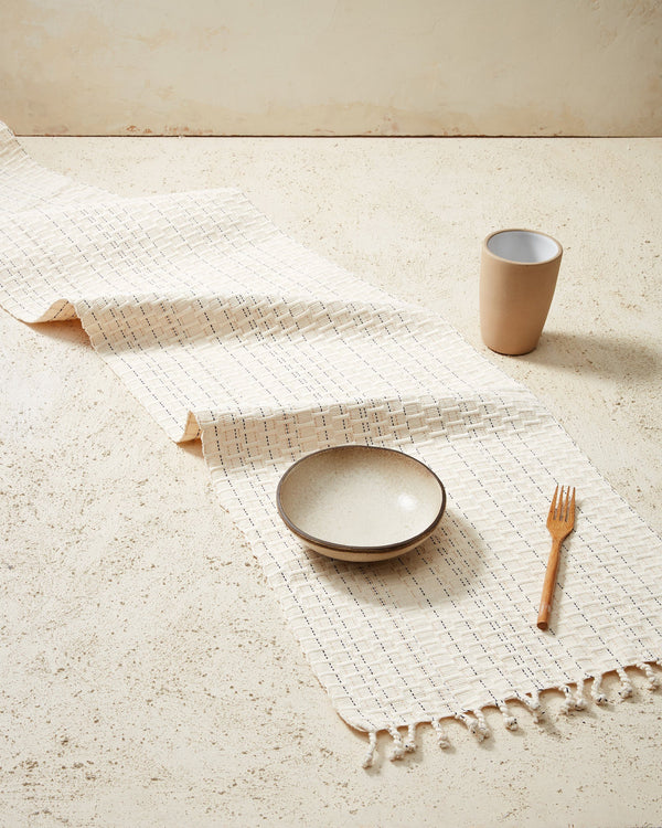 Minna Panalito Runner Cream Kitchen Textiles Minna