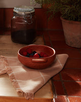 Minna Peach Grid Napkin Kitchen Textiles Minna-5010111496255