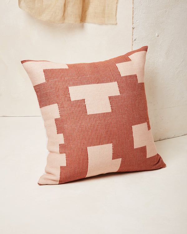 Minna Puzzle Pillow - Terracotta Pillows Minna