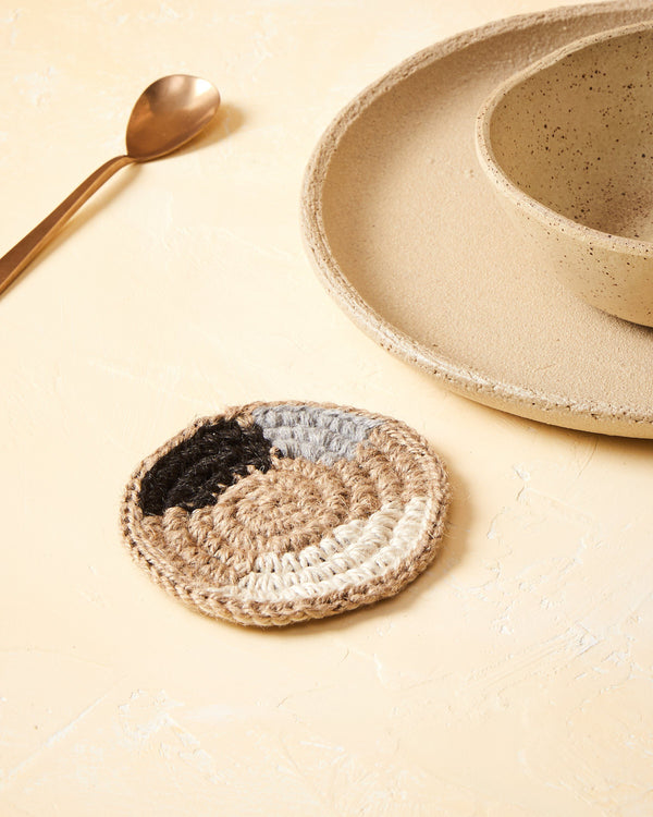 Minna Shapes Coasters - Dark, Set of 2 Kitchen Textiles Minna