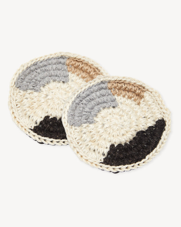 Minna Shapes Coasters - Light, Set of 2 Kitchen Textiles Minna