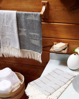 Minna Shapes Towel Blue Kitchen Textiles Minna-5010083676223