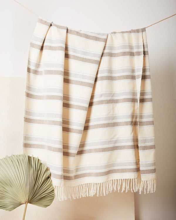 Minna Sky Stripe Throw Blanket Minna