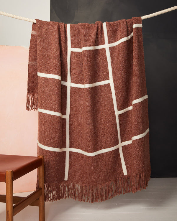 Minna Spaces Throw - Rust Blanket Minna
