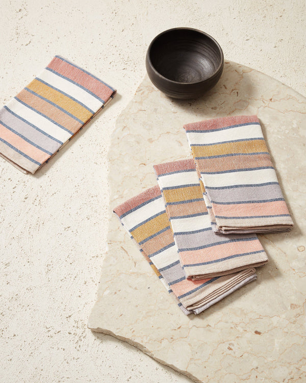 Minna Sunrise Stripe Napkins