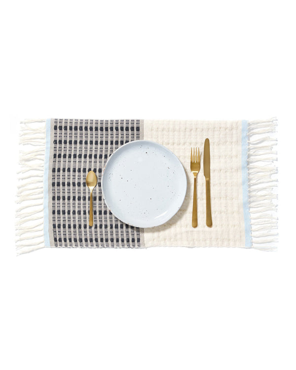 Minna Texture Placemat Blue Kitchen Textiles Minna