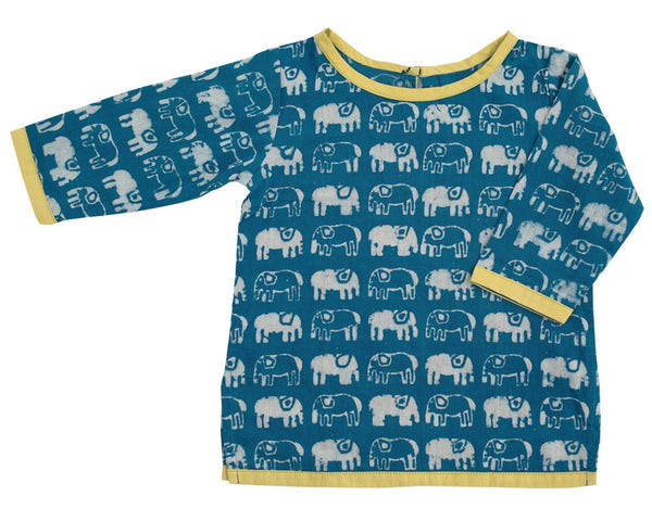 Mirasa Design Elephant Tunic | handmade | indigo clothing Mirasa Design