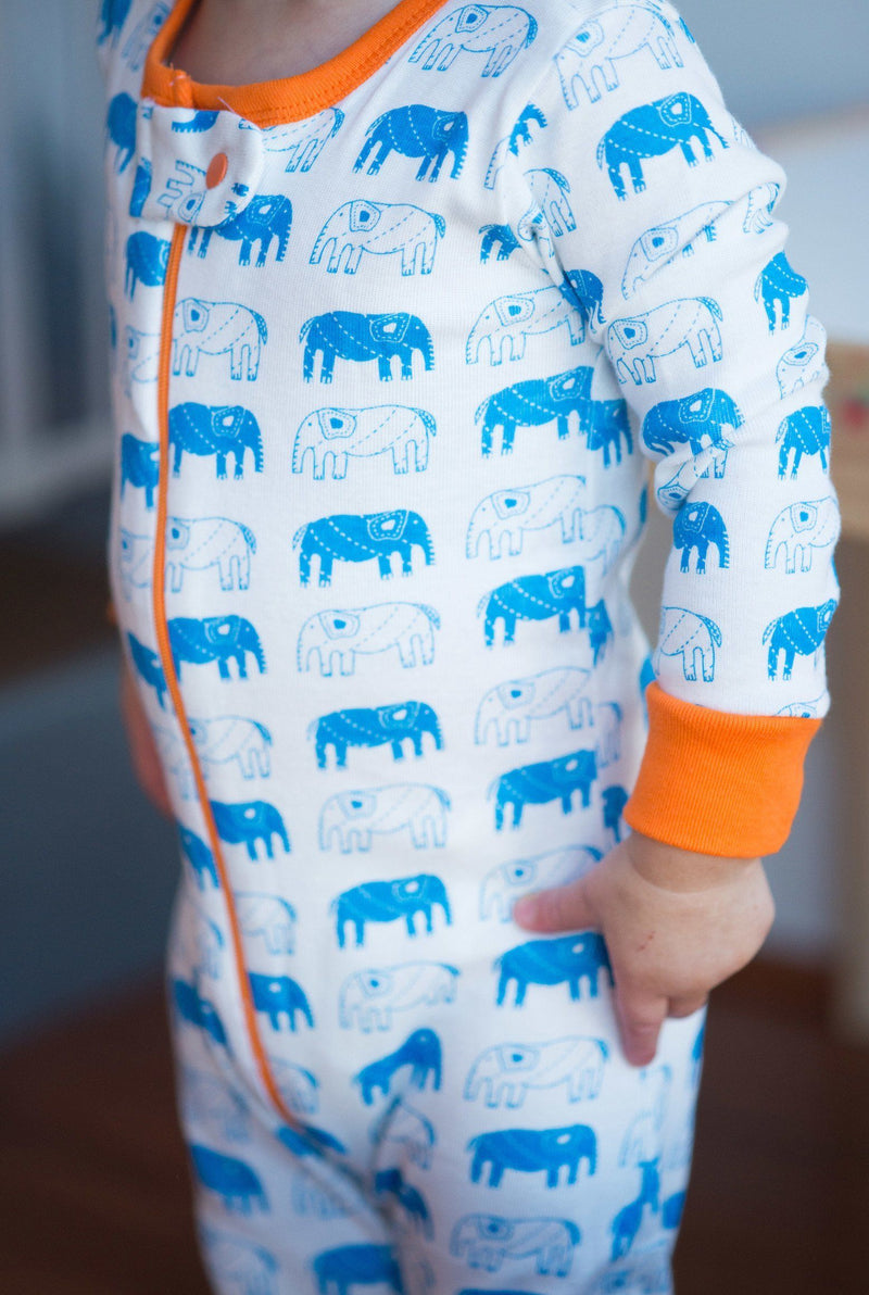 Mirasa Design footed elephant onesie clothing Mirasa Design