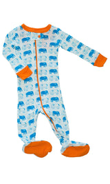 Mirasa Design footed elephant onesie clothing Mirasa Design -15012937465919