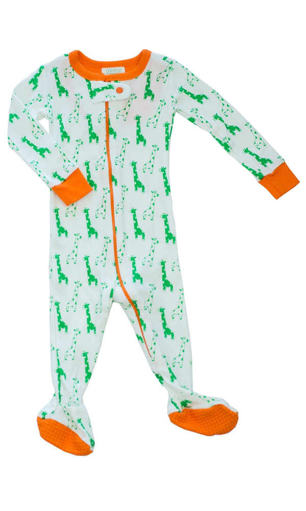 Mirasa Design footed giraffe onesie clothing Mirasa Design