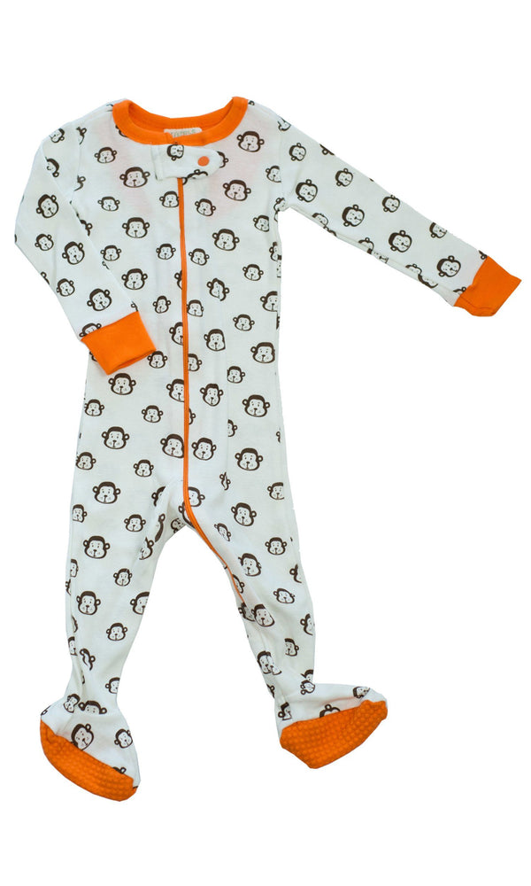Mirasa Design footed monkey onesie clothing Mirasa Design