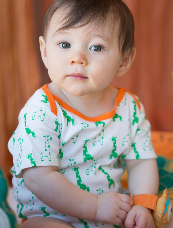 Mirasa Design giraffe onesie (green) clothing Mirasa Design