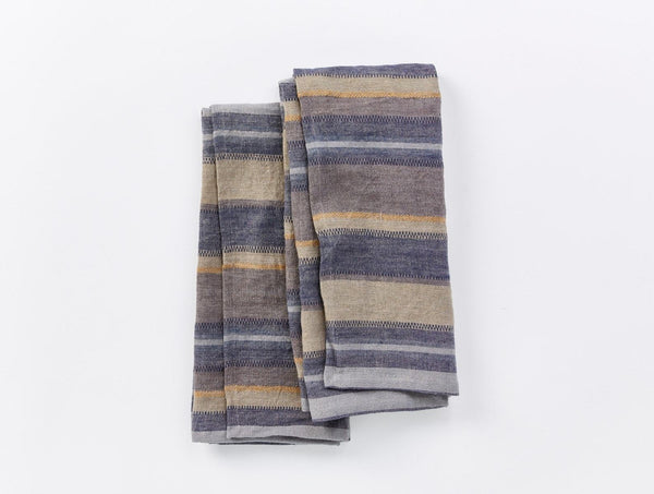 Mojave Linen Kitchen Towels - Indigo Kitchen Coyuchi