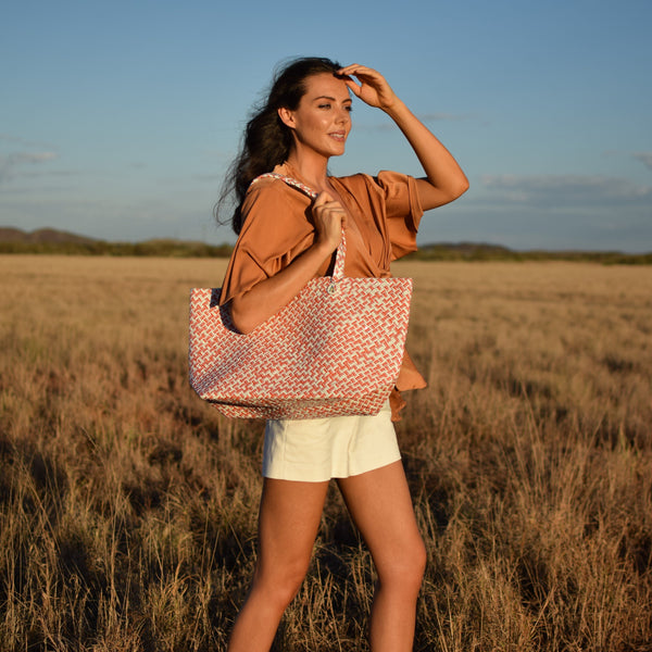 Mother Erth Limited Edition - Orange Woven Tote Bags Mother Erth