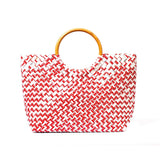Mother Erth Limited Edition - Red Woven Handbag Bags Mother Erth-12777044377663