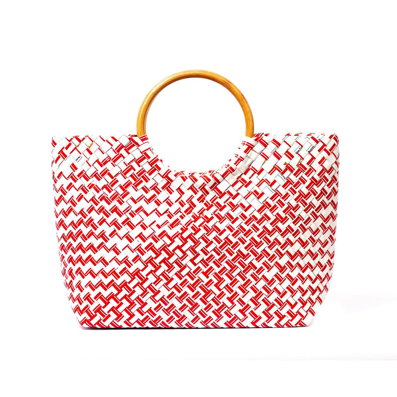 Mother Erth Limited Edition - Red Woven Handbag Bags Mother Erth