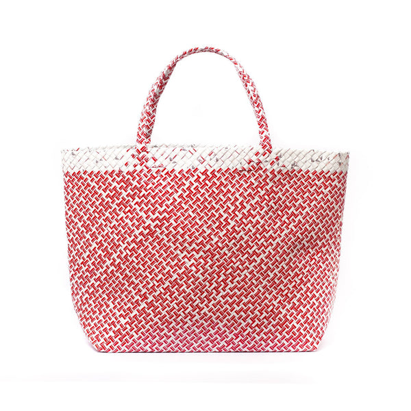 Mother Erth Limited Edition - Red Woven Maxi Tote Bags Mother Erth