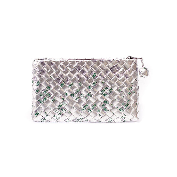 Mother Erth Limited Edition - Silver Woven Clutch Bags Mother Erth