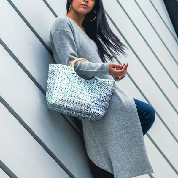 Mother Erth Limited Edition - Silver Woven Handbag Bags Mother Erth