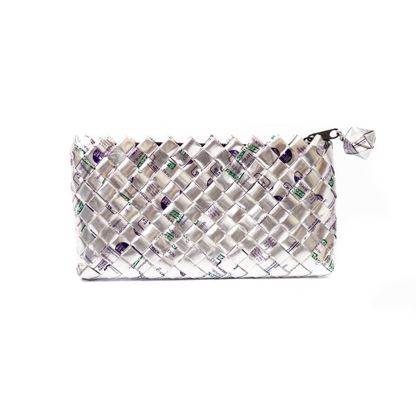 Mother Erth Limited Edition - Silver Woven Mini Clutch Bags Mother Erth