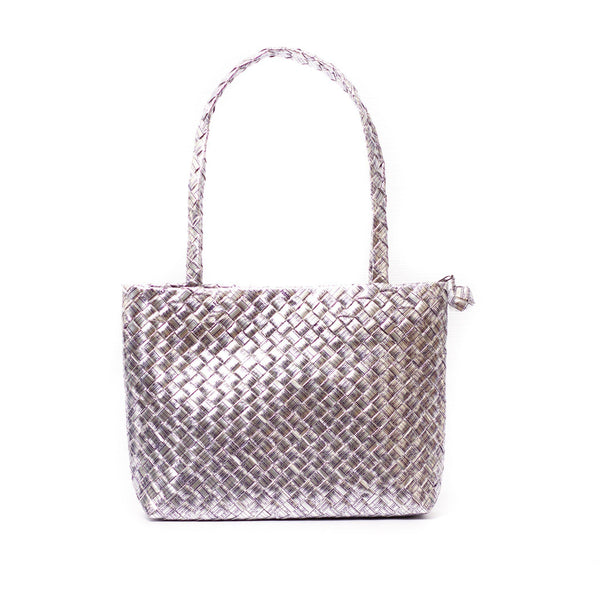 Mother Erth Limited Edition - Silver Woven Mini Shoulder Bag Bags Mother Erth