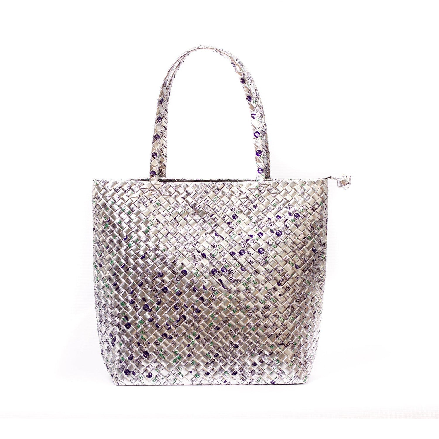 Mother Erth Limited Edition - Silver Woven Shoulder Bag Bags Mother Erth