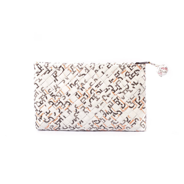 Mother Erth Limited Edition - White Woven Clutch Bags Mother Erth