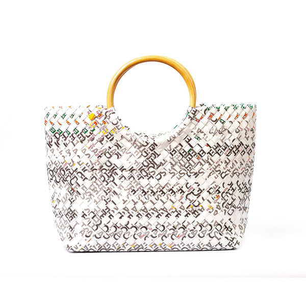 Mother Erth Limited Edition - White Woven Handbag Bags Mother Erth