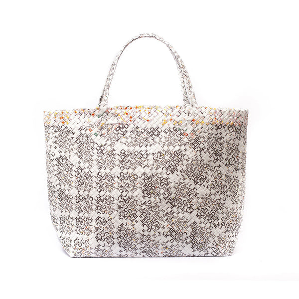 Mother Erth Limited Edition - White Woven Maxi Tote Bags Mother Erth
