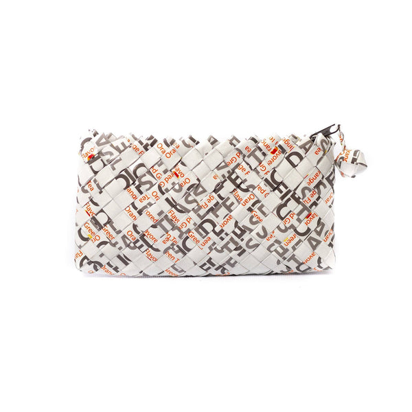 Mother Erth Limited Edition - White Woven Mini Clutch Bags Mother Erth