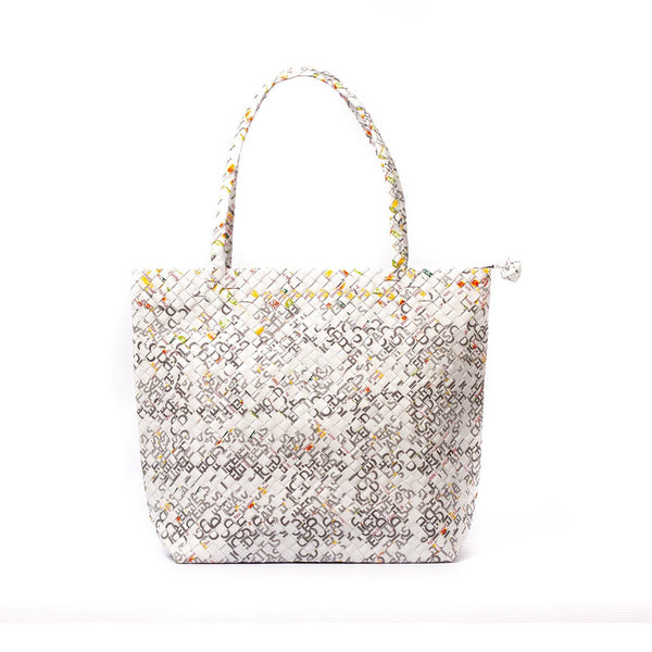 Mother Erth Limited Edition - White Woven Shoulder Bag Bags Mother Erth