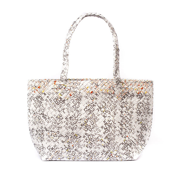 Mother Erth Limited Edition - White Woven Tote Bags Mother Erth