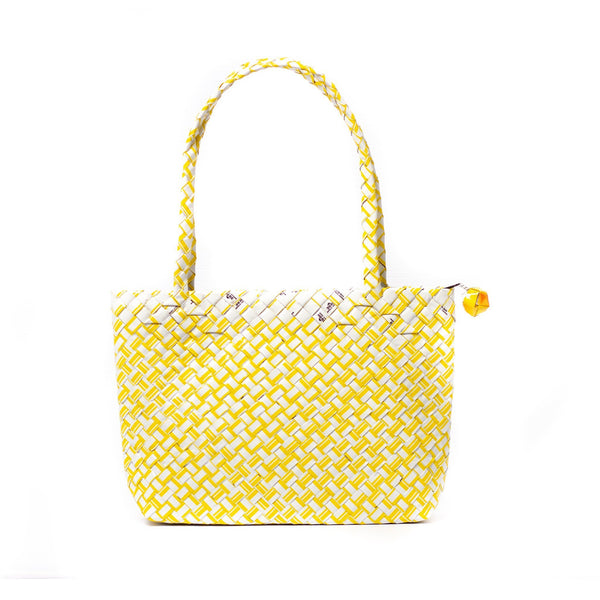 Mother Erth Limited Edition - Yellow Woven Mini Shoulder Bag Bags Mother Erth