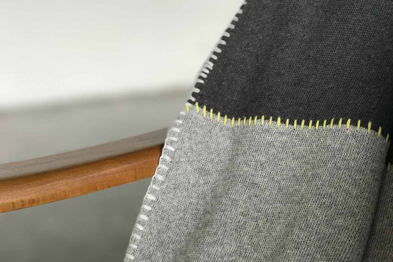 Newly Goods Gray Divide Throw Blanket Cotton Newly Goods