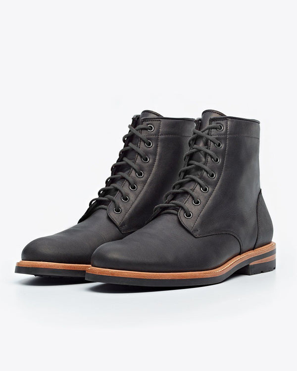 Nisolo Andres All Weather Boot Black Men's Leather Boot Nisolo