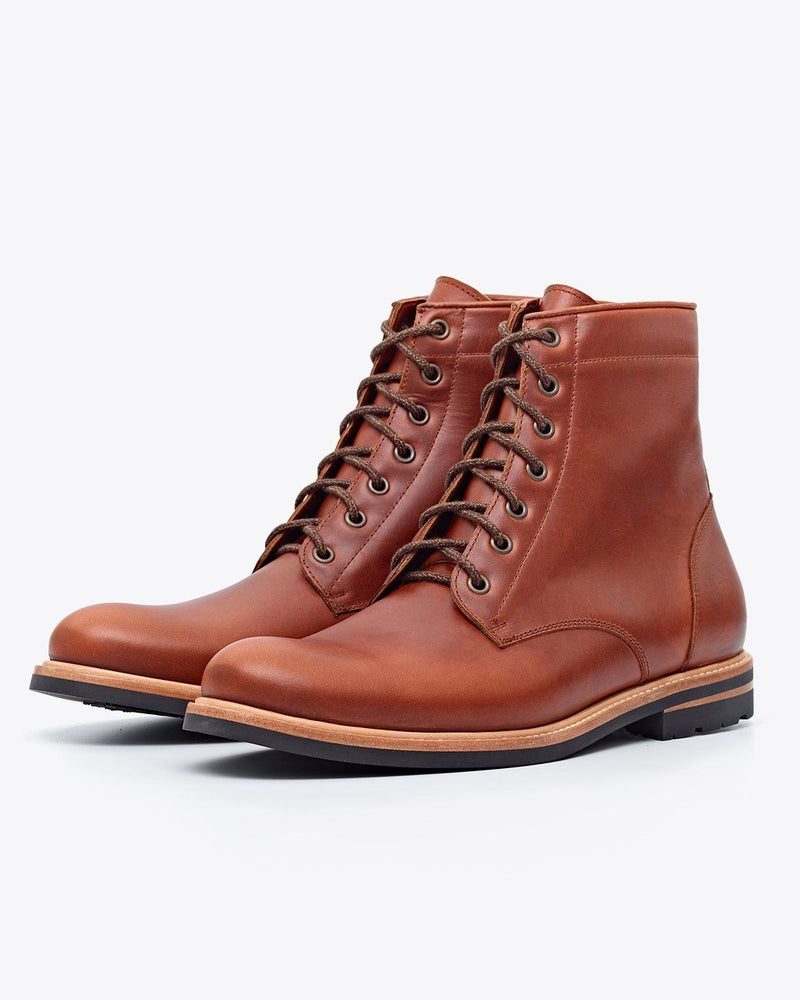 Nisolo Andres All Weather Boot Brandy Men's Leather Boot Nisolo