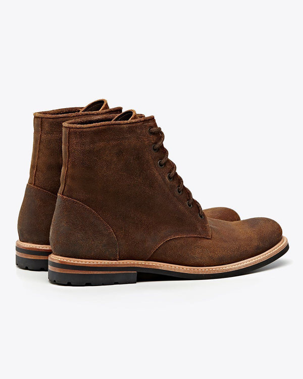 Nisolo Andres All Weather Boot Waxed Brown Men's Leather Boot Nisolo