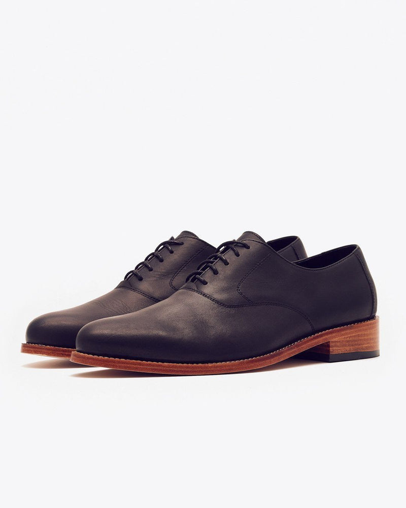 Nisolo Calano Oxford Black Men's Leather Oxford Nisolo