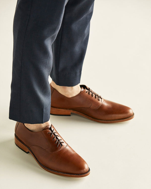 Nisolo Calano Oxford Brandy Men's Leather Oxford Nisolo