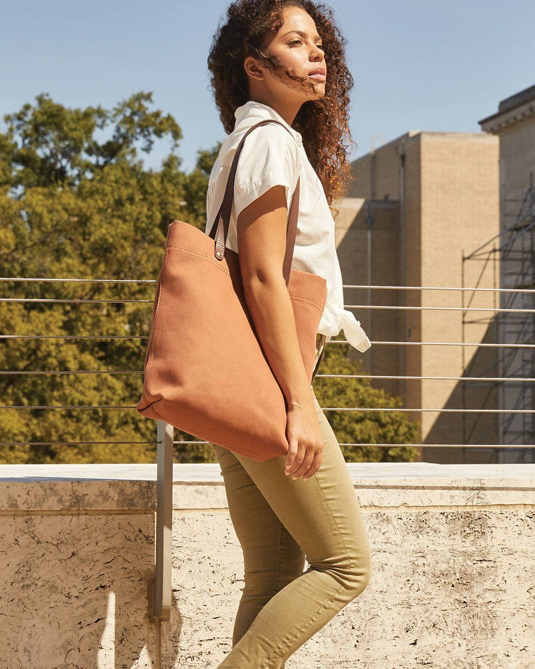 Nisolo Canvas Tote Amber Canvas Bag Nisolo