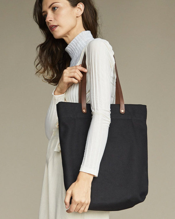 Nisolo Canvas Tote Black Canvas Bag Nisolo