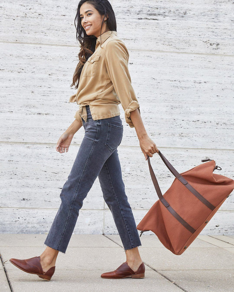 Nisolo Canvas Weekender Amber Canvas Bag Nisolo