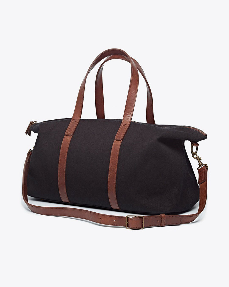 Nisolo Canvas Weekender Black Canvas Bag Nisolo