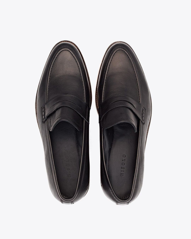 Nisolo Chamberlain Penny Loafer Black Men's Leather Loafer Nisolo