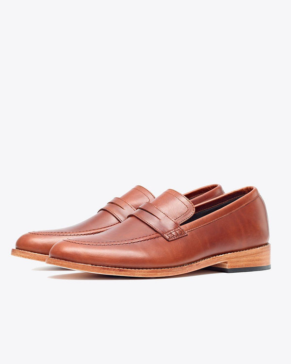 Nisolo Chamberlain Penny Loafer Brandy Men's Leather Loafer Nisolo