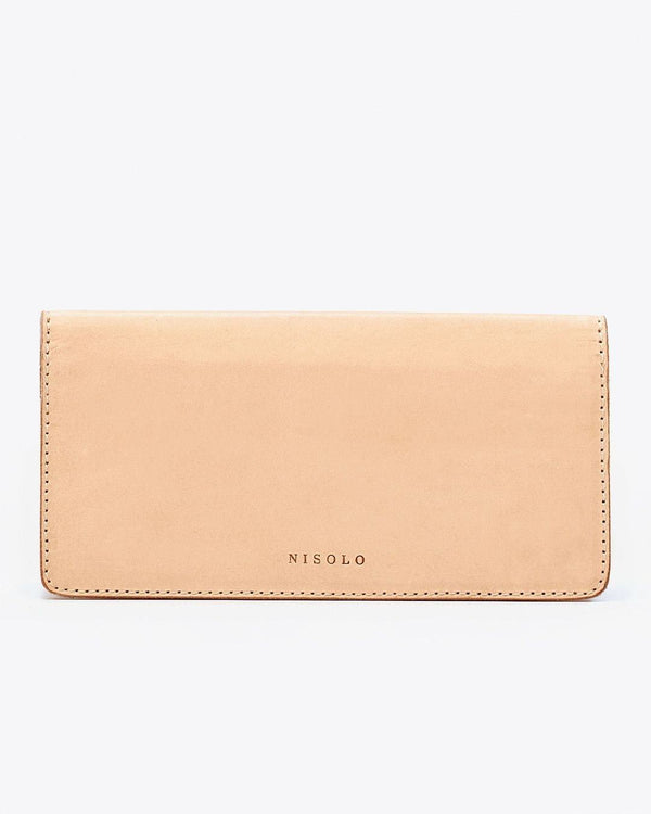 Nisolo Classic Wallet Natural Vachetta Leather Clutch Nisolo