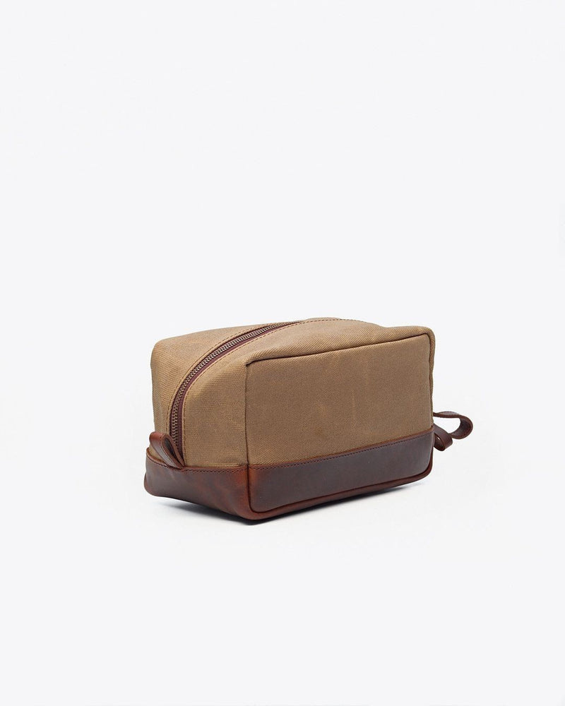 Nisolo Durango Dopp Kit Waxed Canvas Leather goods Nisolo