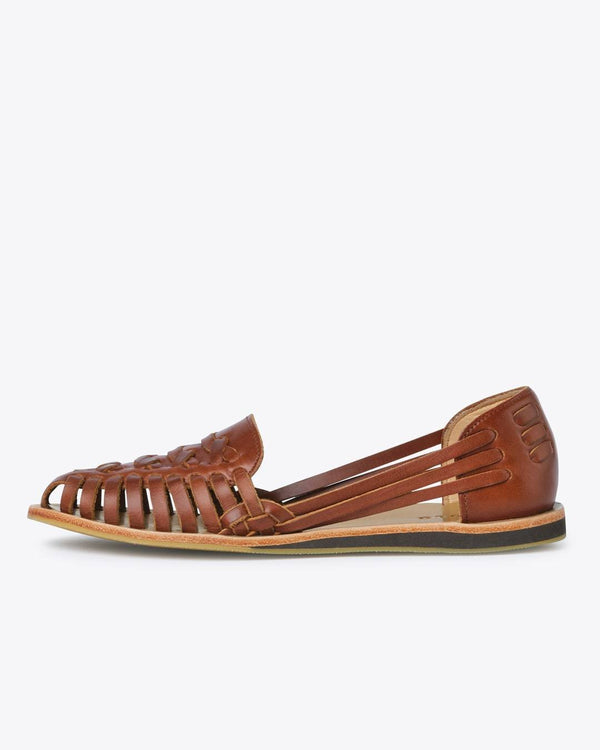 Nisolo Ecuador Huarache Brandy Women's Leather Sandal Nisolo