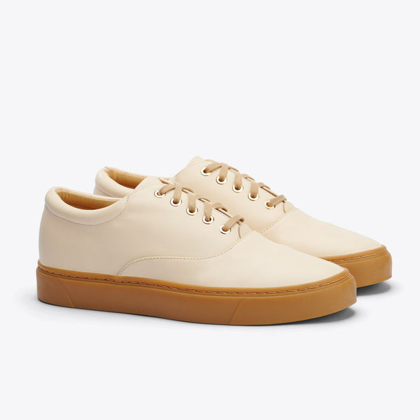 Nisolo Elayna Sneaker Bone/Gum Women's Leather Sneaker Nisolo
